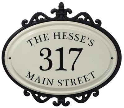 Whitehall Hillsdale Ceramic Address Plaque