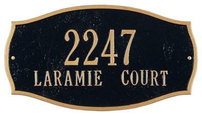 Whitehall Laramie Address Plaque