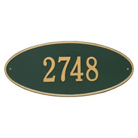 Whitehall Madison Oval Plaque Green Gold