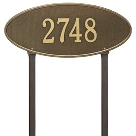 Whitehall Madison Oval Lawn Antique Brass