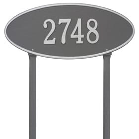 Whitehall Madison Oval Lawn Pewter Silver