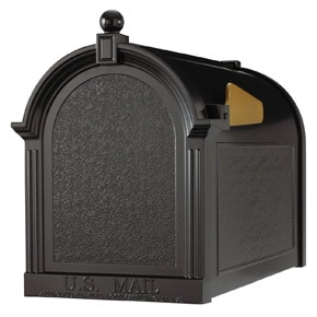 Whitehall Decorative Post Mount Mailboxes Black