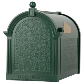 Whitehall Decorative Post Mount Mailboxes Green