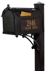 Whitehall Post Mount Mailboxes Superior Post