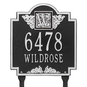 Whitehall Monogram Lawn Marker Black Silver