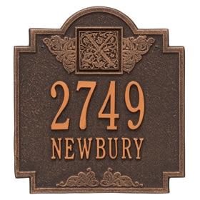 Monogram Address Plaque Oil Rubbed Bronze