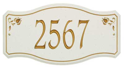 New Amsterdam Carved Stone Address Plaque