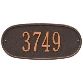 Oval Address Plaque Oil Rubbed Bronze