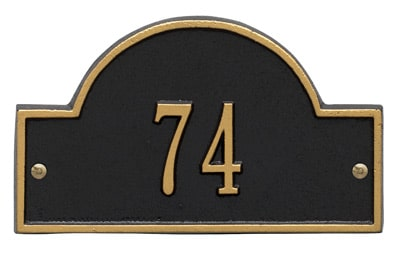 Whitehall Petite Arch Marker Address Plaque