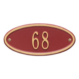 Whitehall Madison Petite Plaque Red Gold