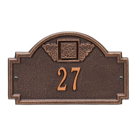 Whitehall Monogram Petite Plaque Antique Copper