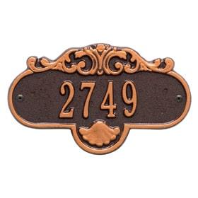 Whitehall Rochelle Petite Plaque Antique Copper