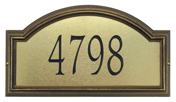 Whitehall Providence Artisan Metal Address Plaque