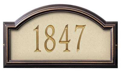 Whitehall Providence Artisan Stone Address Plaque