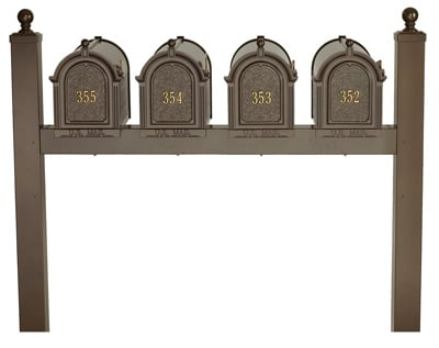 Whitehall Mailboxes Quad Mount Post