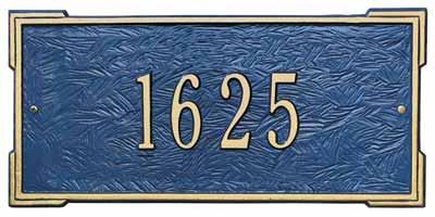 Whitehall Roanoke Address Plaque One Line