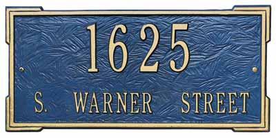 Whitehall Roanoke Address Plaque Two Lines