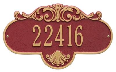 Whitehall Rochelle Address Plaque
