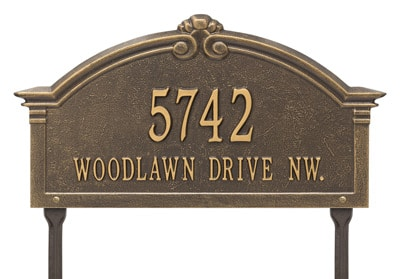 Whitehall Roselyn Address Plaque Two Lines