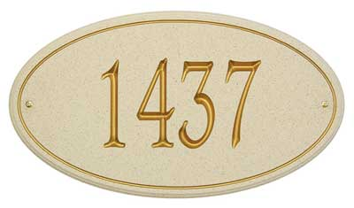 San Diego Carved Stone Address Plaque