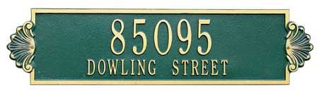 Whitehall Shell Horizontal Plaque Two Lines