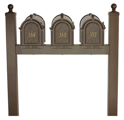 Whitehall Mailboxes Triple Mount Post