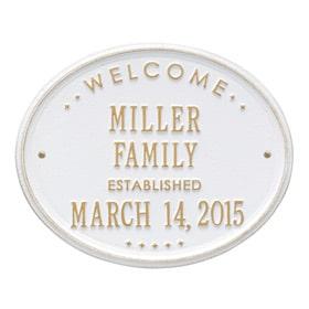 Whitehall Family Established Plaque White Gold
