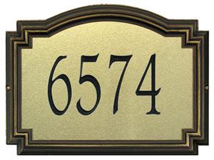 Whitehall Williamsburg Artisan Metal Address Plaque