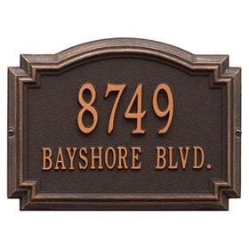 Williamsburg Address Plaque Oil Rubbed Bronze