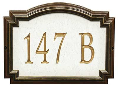 Whitehall Williamsburg Artisan Stone Address Plaque