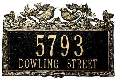 Whitehall Woodland Wren Address Plaque
