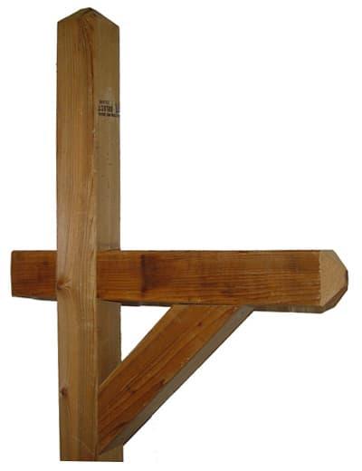 Standard Wood Cedar Mailbox Post