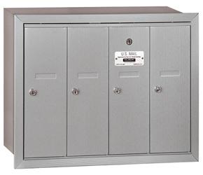 Salsbury 4 Door Vertical Mailbox Aluminum