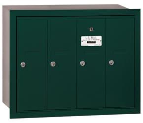 Salsbury 4 Door Vertical Mailbox Green
