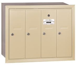 Salsbury 4 Door Vertical Mailbox Sandstone