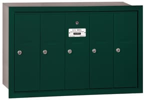 Salsbury 5 Door Vertical Mailbox Green