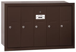 Salsbury 5 Door Vertical Mailbox Bronze