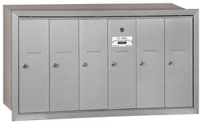 Salsbury 6 Door Vertical Mailbox Aluminum