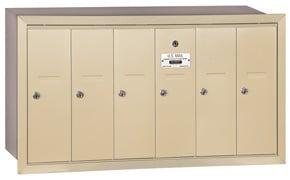 Salsbury 6 Door Vertical Mailbox Sandstone