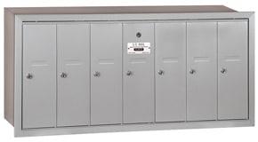 Salsbury 7 Door Vertical Mailbox Aluminum