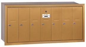 Salsbury 7 Door Vertical Mailbox Brass