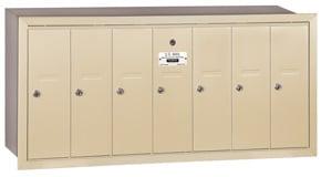 Salsbury 7 Door Vertical Mailbox Sandstone
