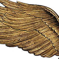 Whitehall Wall Eagle Antique Brass