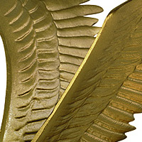 Whitehall Wall Eagle Gold Bronze