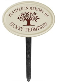 Whitehall Tree Memorial Lawn Marker Red