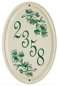 Whitehall Dogwood Vertical Oval Plaque Green