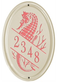 Whitehall Sea Horse Vertical Oval Coral