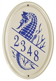 Whitehall Sea Horse Oval Dark Blue