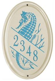 Whitehall Sea Horse Oval Sea Blue