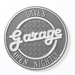 Whitehall Garage Plaque Pewter And Silver